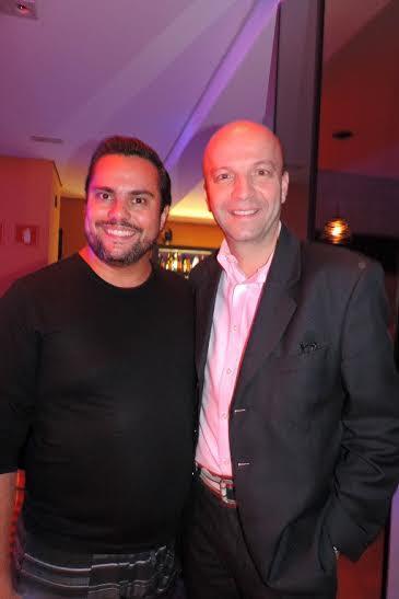 Fabio Bouças e o produtor musical do Domingo Legal Nelson Tamberi