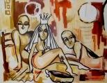 Ator da Record Saulo Meneghetti mostra seu lado artista plástico