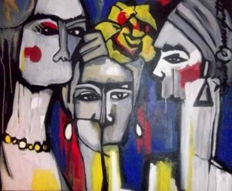 Obra do ator e artista plástico Saulo Meneghetti