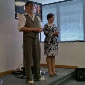 mestres de cerimônia Marcos Tumura e Simone Gutierrez Foto de Rosa Borges